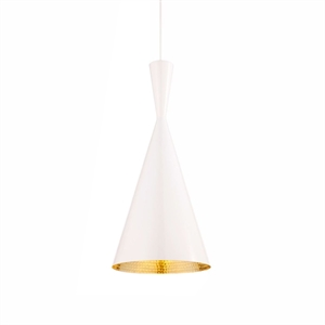 Tom Dixon Beat Lampa wiszaca Tall Biala